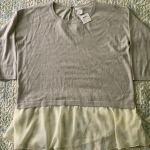 Club Monaco light sweater shirt